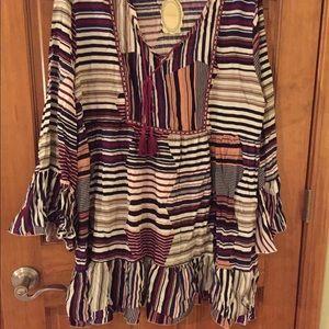 Pretty boho plus size dress